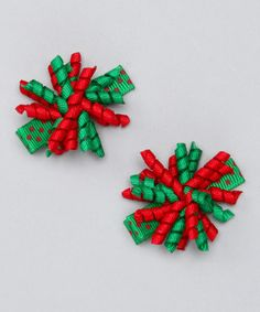Another great find on #zulily! Green & Red Mini Korker Clip Set by Festive Fifi #zulilyfinds