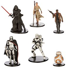 """The Disney Store """"Star Wars: The Force Awakens"""" figures set"""