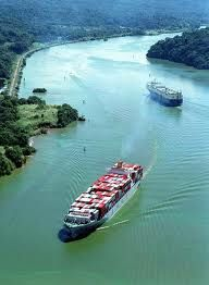 The Panama Canal is enormous... I remember swimming in it and went through it on a battleship