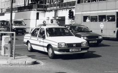 British Army Royal Military Police Vauxhall Cavalier staff car, London.