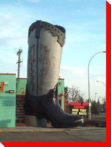 World's Largest Western Boot - Edmonton, Alberta, Canada. Western Boots, Cowboy Boots, All About Canada, Canada Travel, Canada Tourism, Canada Eh, Western Canada, Roadside Attractions, World's Biggest