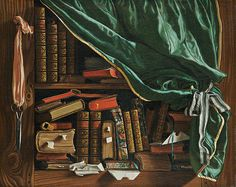 'Still Life - The Library' By Francois Foisse, 1741