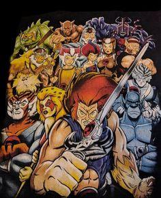 THUNDERCATS Retro Cartoon Gamer 80s Comic Book Heavy Cotton t-shirt S-XXL