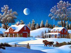 Free Christmas PowerPoint Backgrounds – White Xmas | PowerPoint E ...