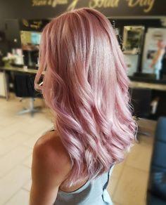 SOFT ROSE GOLD HAIR COLOUR