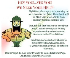 We Need Your Help!  #millife #milspouse #milkids #hooah
