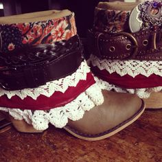 Size 7 Women's Handmade Gypsy Hippie Boots by AlwaysDreamBigCrafts, $115.00