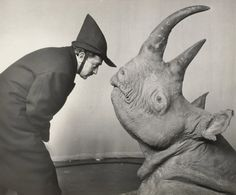 Dali and his Rhino.