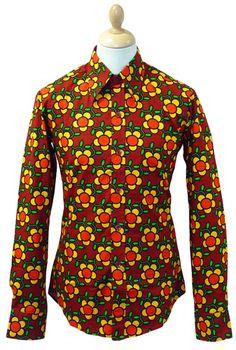 Flowergrid CHENASKI Retro Sixties Floral Mod Shirt | atomretro.com