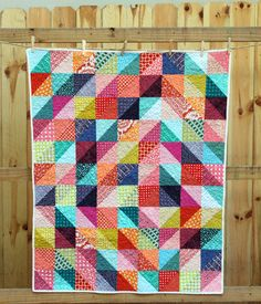 Sparkling Diamonds Baby Quilt from knottygnome crafts