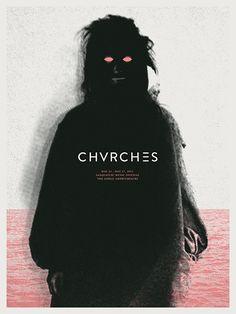 CHVRCHES - gig poster design by Cory Schmitz