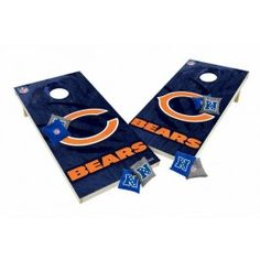 Chicago Bears Tailgate Toss XL Shields Edition Cornhole Board & Bean Bag Set