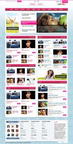 Trendy Ladies - гламурный женский шаблон для DLE #templates #website #шаблон #сайт #web Theme Website, Web Design Company, Page Design, Website Template, Wordpress Theme, Internet, Templates, Stencils, Vorlage
