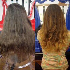 Antes e depois by Alexandre Rios #circushair #circuspamplona #hair #highlights #ombre #sombre #fashion #style