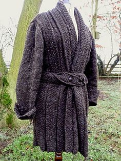 Pleated Shawl Collared Cardigan Jacket By English Country Life - Free Knitted Pattern - (ravelry)