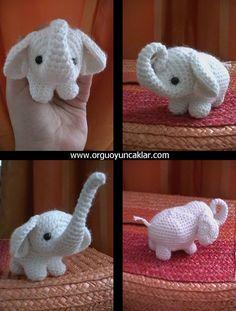 Amigurumi Baby Elephant Pattern by Denizmum on Etsy