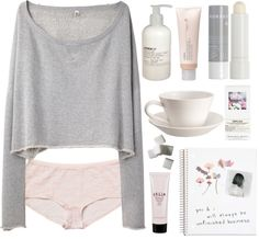 Grey and blush pink lazy day outfit Lazy Day Outfits, Casual Outfits, Cute Outfits, Fashion Outfits, School Outfits, Sleepwear & Loungewear, Lingerie Sleepwear, Lacy Lingerie, Lounge Outfit