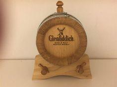 """Annons på Tradera: Handtillverkad Whiskytunna i ek. """"Glenfiddich"""" 1-liter."""