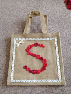 Personalised tote bag. The start of a birthday present.