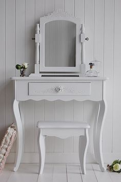 Bon White Bedroom Furniture. The Peony Small Dressing Table Finished In White,  Shown With The