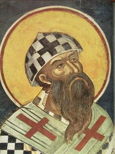 June 27 is the feast day of Saint Cyril of Alexandria, Patriarch (Archbishop) of Alexandria in the early fifth century. He argued against the heresy of Nestorianism, which maintained that Christ's. Catholic Blogs, Catholic Saints, Patron Saints, Religious Icons, Religious Art, Alexandria, Santa Maria, Early Church Fathers, Defender Of The Faith