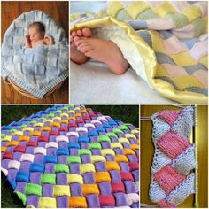Entrelac Knitted Blanket