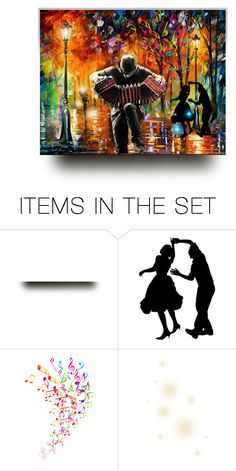 """Brining Color to the City Streets with Music"" by pdunfee ❤ liked on Polyvore featuring art"