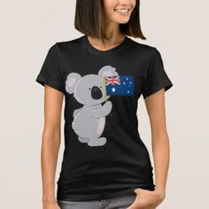 Shop Koala Australian Flag T-Shirt created by mariabellimages. Personalize it with photos & text or purchase as is! Types Of T Shirts, Australian Flags, Shirt Style, Colorful Shirts, Fitness Models, Shirt Designs, Casual, Mens Tops, Oil Field