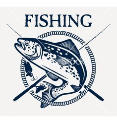 Trout fishing vector by - Image - VectorStock Salmon Fishing, Trout Fishing, Fishing Lures, Fly Fishing, Bass Fishing Tips, Best Fishing, Kids Desk Organization, Diy Gifts For Men, Fish Logo
