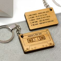 Custom name periodic table chemistry keychain cool science or a cassette tape shaped key ring personalised with a name and up to five songs urtaz Image collections
