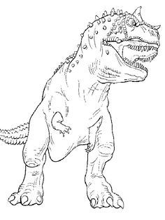 T Rex Coloring Pages Printable