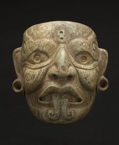 NeoMexicanismos - Regional Masks  Southern Mexico/Northern Guatemala - Mayan - Mask of Tlaloc, 300-200 BCE  Jade