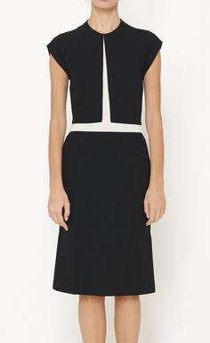 Narciso Rodriguez Black And Beige Dress