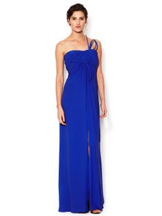 In Love - Silk Strapless Pleated Bodice Gown by Carolina Herrera