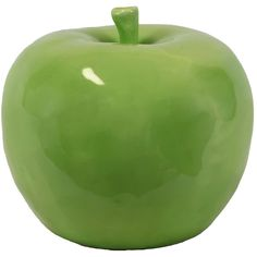 Large Ceramic Green Apple (Urban Trends Collection) ($41) ❤ liked on Polyvore featuring home, home decor, decor, backgrounds, green, ceramic home decor, green home decor and apple home decor