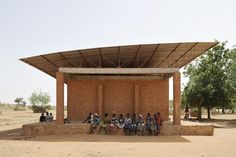"""When I was in New York in 2010, I saw an exhibit at MoMA called """"Small Scale, Big Change"""" on humanitarian and sustainable architecture. I love the roof on this primary school in Gando, Burkina Faso."""