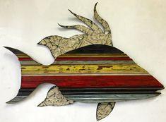 Hogfish de madera reciclada por RidleyStallingsArt en Etsy