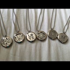 Essential oil necklaces your choice Cute essential oil necklaces your choice 1 for 30$ 2 for 50$ comes with do Terra essential oil of your choice: lavender, lemon, lemon grass, serenity, citrus bliss, or wild oranges. Jewelry Necklaces