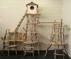 流木オリジナルキャットタワー[ツリーハウスなキャットタワー] 最上川の流木アート レット・イット・ビー