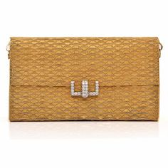 This aesthetically elegant estate clutch handbag of unsurpassed classic elegance is crafted in solid 18K yellow gold, with a touch of white gold