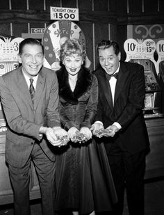The Milton Berle Special' Episode 7 -- Aired 11/01/1959 Pictured: (l-r) Milton Berle, Lucille Ball, and Desi Arnaz