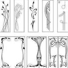 Free graphic downloads: Art Nouveau Designs. Vector Clipart. Free ...