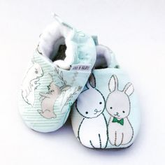 Buy Now Bunny Handmade Baby Shoes Mint Baby Shoes Easter Soft...