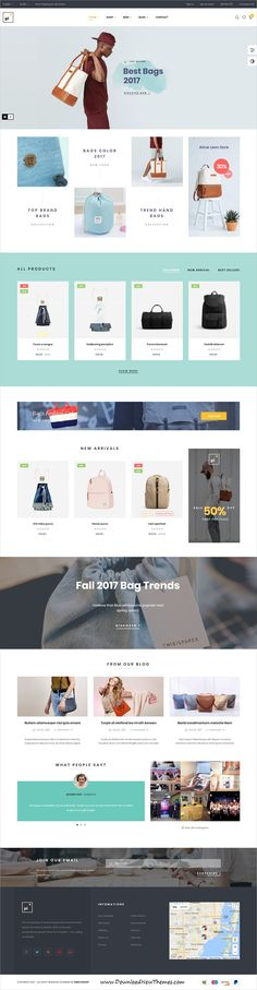Pi is clean and modern design 9in1 responsive #Prestashop theme for stunning multipurpose #bagshop eCommerce #website to live preview & download click on Visit