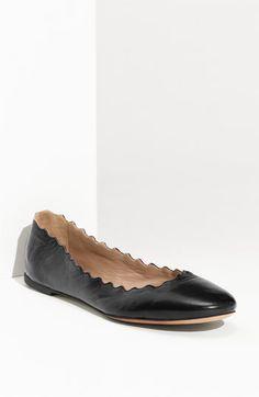 Chloé Scalloped Ballet Flat