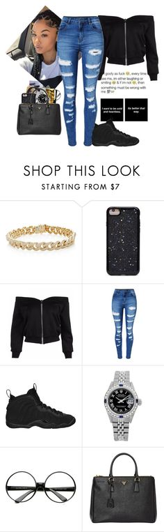 """""""Who Betta?"""" by issaxking on Polyvore featuring Sydney Evan, Beats by Dr. Dre, Forever 21, WithChic, NIKE, Rolex, ZeroUV and Prada"""