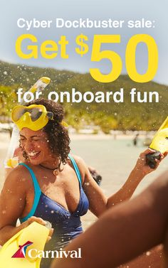 An amazing sale, minus the mall lines. Get $50 for onboard fun during the Cyber Dockbuster Sale.  Find great deals on cruises to the Caribbean, The Bahamas, Alaska, and Mexico!