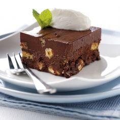 Chocolate  Tia Maria Fudge Cake made with Fage Greek yogurt...may have to try this. I love Fage yogurt.