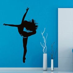 Sport Dance Ballerina Girl Dancer Vinyl Decal Sticker Home Art Mural Room Decor Sticker Decal size 22x35 Color