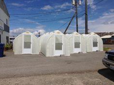 Solar Gem Greenhouses lined up for deliveries. ;-)